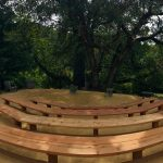 the amphitheater awaits wedding guests at Bell Valley Retreat — Anderson Valley, Mendocino County, California