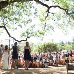 a beautiful wedding under the open sky at Bell Valley Retreat — Anderson Valley, Mendocino County, California