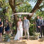 Bride and Groom at the outdoor alter at Bell Valley Retreat — Anderson Valley, Mendocino County, California
