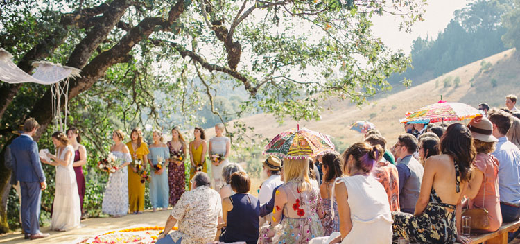 a gathering for a wedding at