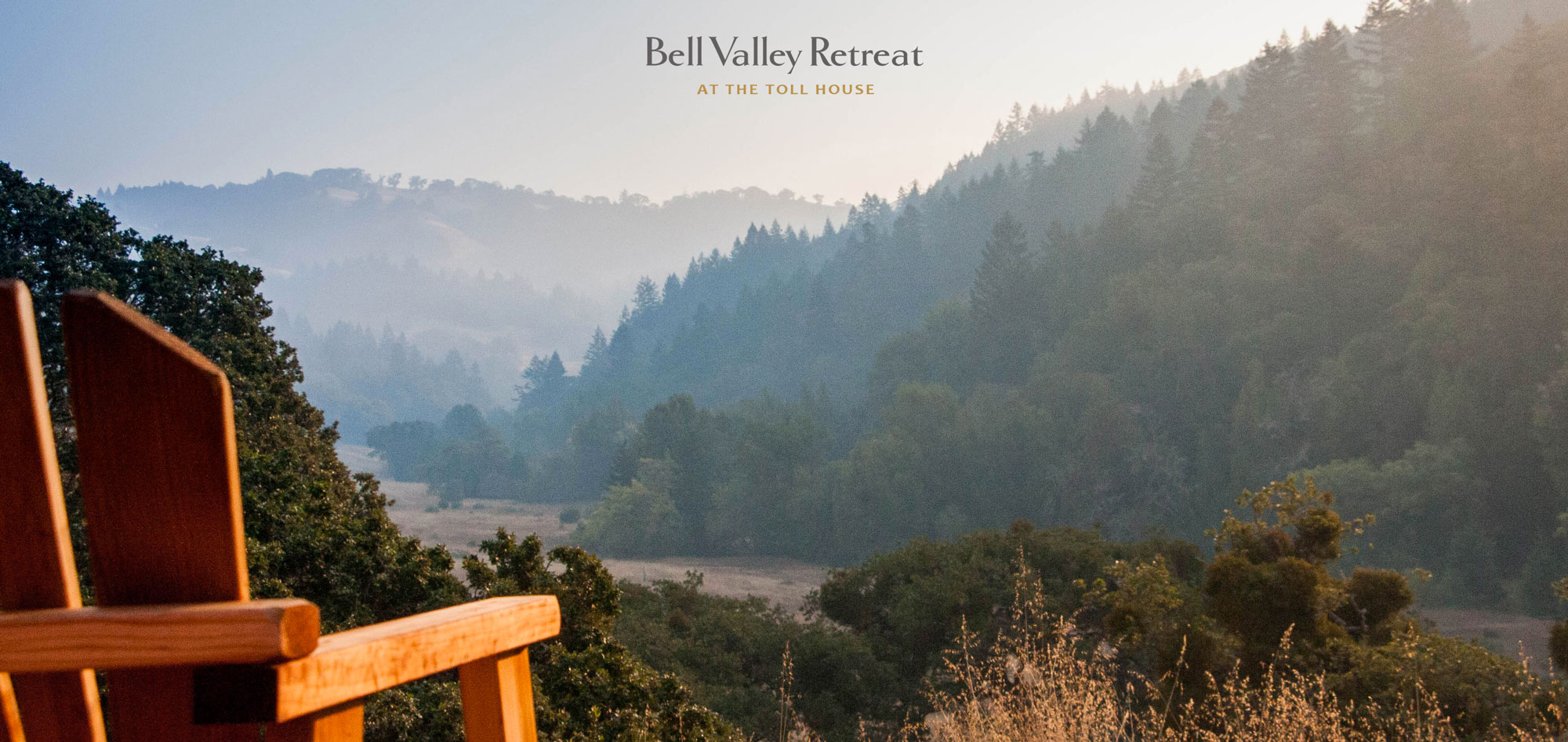 Photo of view from the porch at Bell Valley Retreat