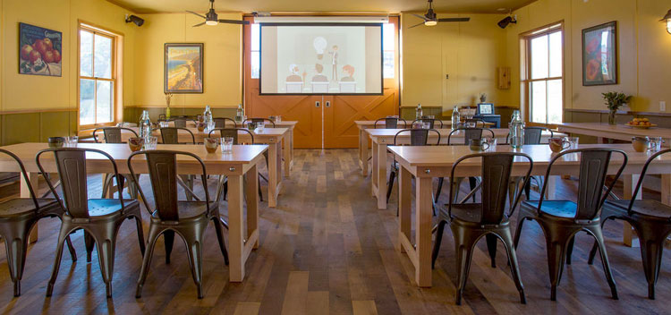 the meeting room at The Barn